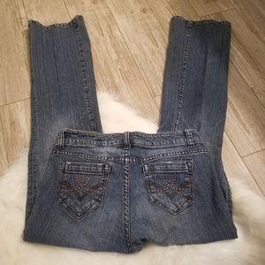 DKNY jeans with studded pockets size 8